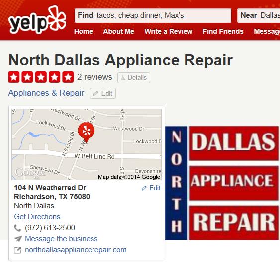 dallas appliance repair reveiws